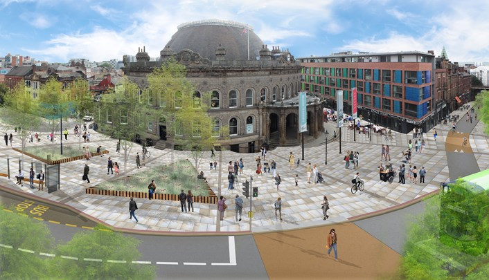 Transformation work to start around the Corn Exchange as new visuals and plans are released showing how the area could look: RF18-540-PS-25-View 11.02-Corn Exchange