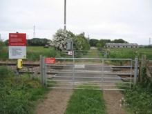 Ivy Lea Farm crossing in June 2016