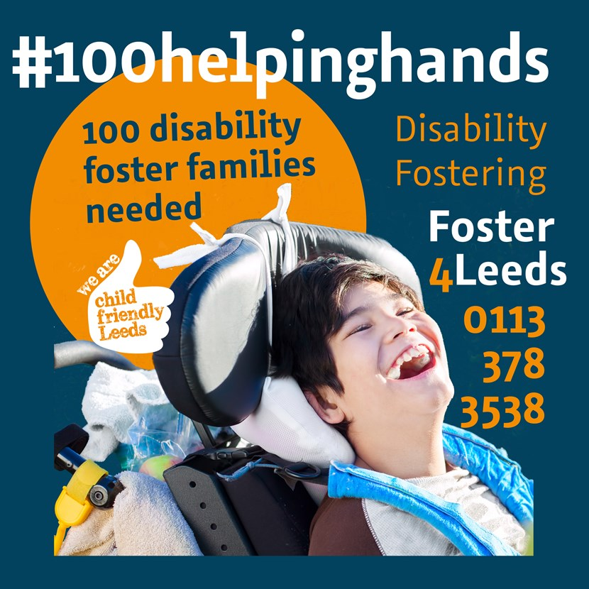 More disability foster carers are needed in Leeds: socialmediaanytime100helpinghands-179664.jpg