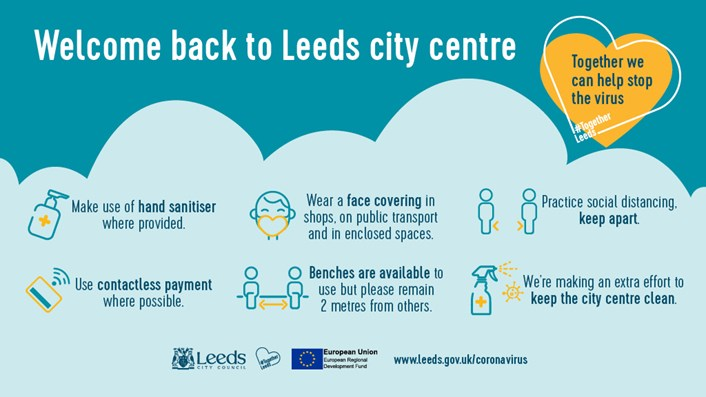 Update for Leeds as COVID-19 restrictions ease next week: Covid Millennium Square 1024x576PX 2021 Drft2