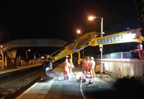 Platform work at West Calder station: Platform lengths will be extended at West Calder station as part of the wider electrification of the line
