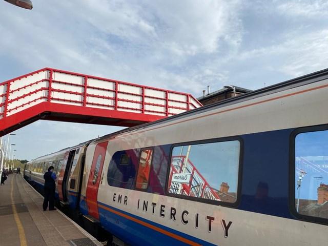New lease of life for Rutland footbridge: New lease of life for Oakham station footbridge