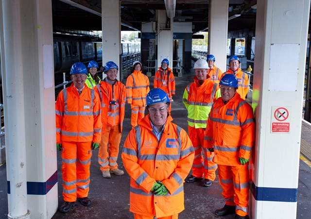 Gatwick airport station works group shot