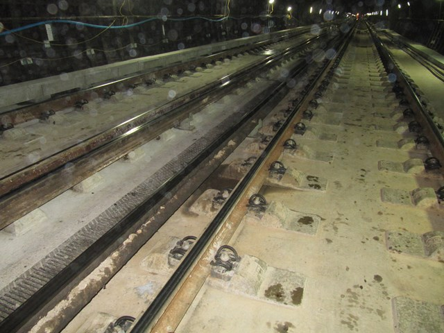 S'ton Tunnel - Completed: New traxcks through Southampton Tunnel