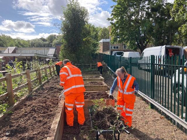 Volunteers at Hadley Wood