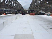 Windsor Road Bridge 1: An innovative polystyrene-block solution has been installed on the new embankments at Windsor Road Bridge.