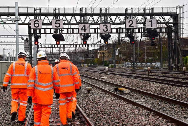 Sale secures Carillion rail contracts: Walkout signal gantry