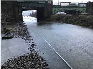 Storm Ciara - Ongoing disruption into Monday 10th February: Flooding at Kirkstall Forge1