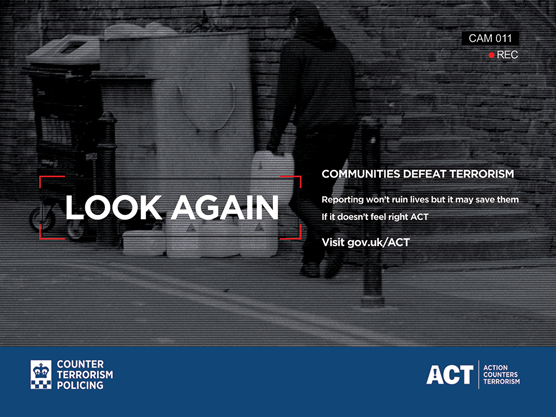 Counter Terrorism Policing launch cinema advertising campaign to encourage reports from the public: Quad Containers
