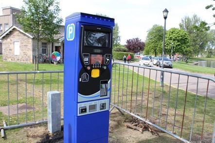 New ticket machines in Elgin's Cooper Park