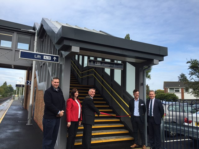 Ewell village welcomes new accessible footbridge at Ewell West station: Ewell West footbridge