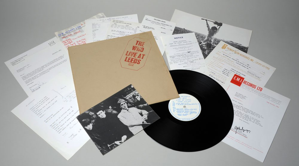 Sounds of Our City: Leeds Stylus (Leeds University Union). Vinyl recording of 'The Who – Live at Leeds', 1970 and Club flyers, 2001-2019. Some on loan from Jordan Ramoth.