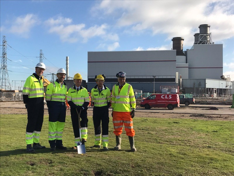 SSE and Siemens break ground at Keadby 2: IMG 3801