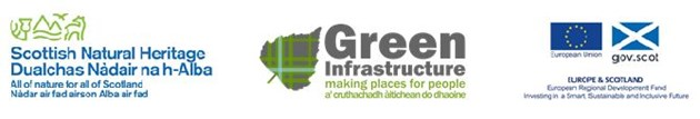 £7.3m in funding for new green infrastructure projects across Scotland: ERDF multi logo jpeg