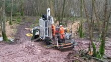 Ground investigation work taking place at Eden Brows