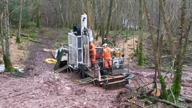 Team of 80 prepares for repairs to major landslip on Settle to Carlisle railway line: Ground investigation work taking place at Eden Brows