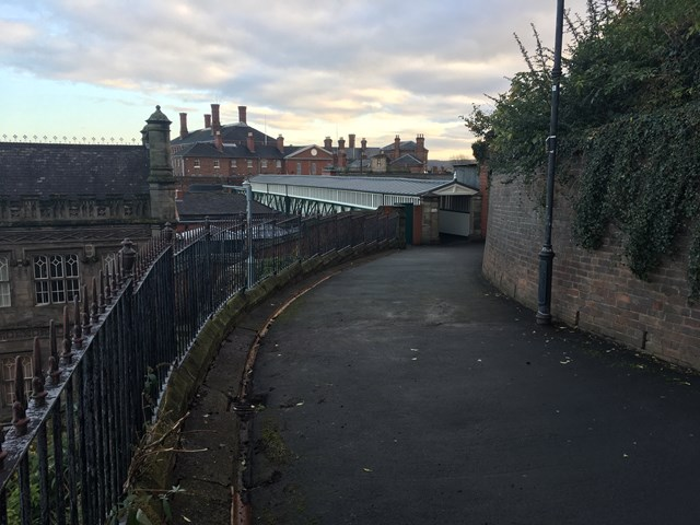 Dana footbridge reopened as Network Rail completes latest phase of refurbishment work at historic Shrewsbury station: Dana Footbridge 3