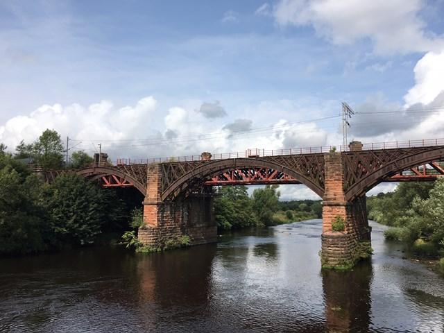 Railway bridge work has bearing on Clyde viaduct's future: IMG 5332
