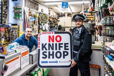 Islington No Knife Shop 2: Vinay Chohan with Constable Razwan Hussain