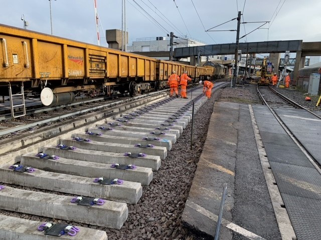 Harwich branch line services more reliable following track works: Harwich branch line track renewals 5