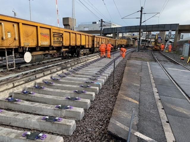 Harwich branch line track renewals 5