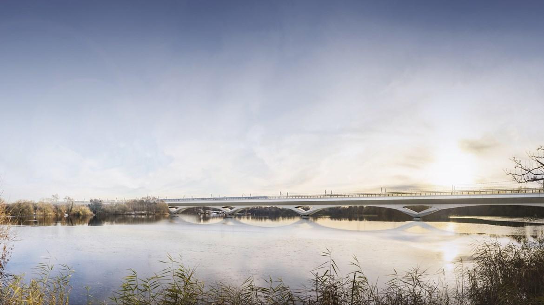 HS2 begins work on UK's longest rail viaduct: Colne Valley Viaduct CGI