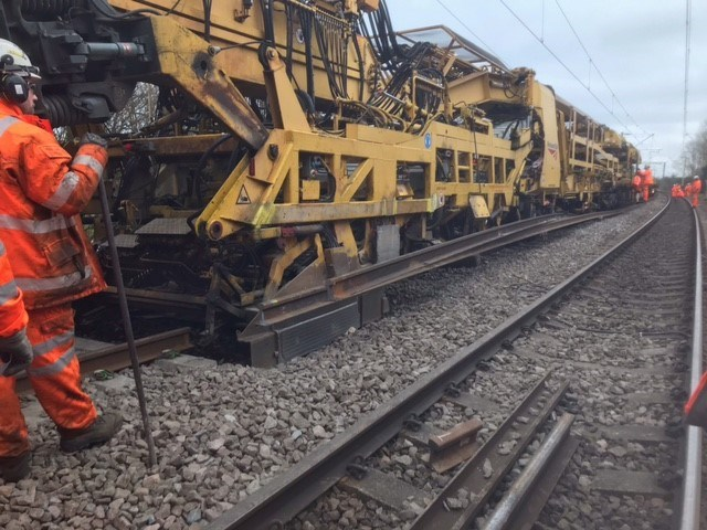 Fewer rail delays between London and Cambridge following completion of track works: WAML Harlow High Output Track Renewal 3