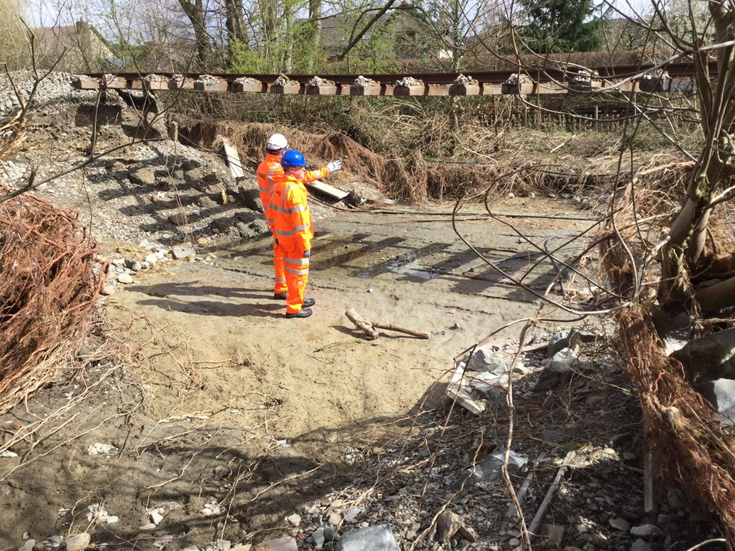Major repair work to begin on Conwy Valley Line: Bill Kelly route managing director and Phil Murphy construction manager