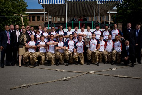 Network Rail's winning apprentice team at the annual Junior Leaders Field Gun Competition