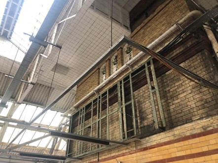 Bolton Station Work - Pigeon Netting 2