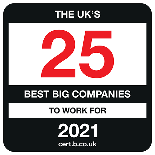 UK's 25 Best Big Companies to Work For 2021