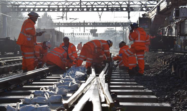 Network Rail successfully delivers £85 million of Christmas upgrades to benefit passengers: Shenfield Junction Remodelling- Crossrail