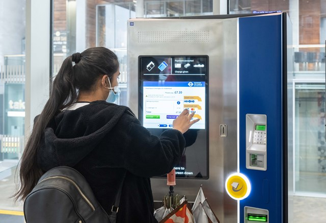Hayes & Harlington ticket machine