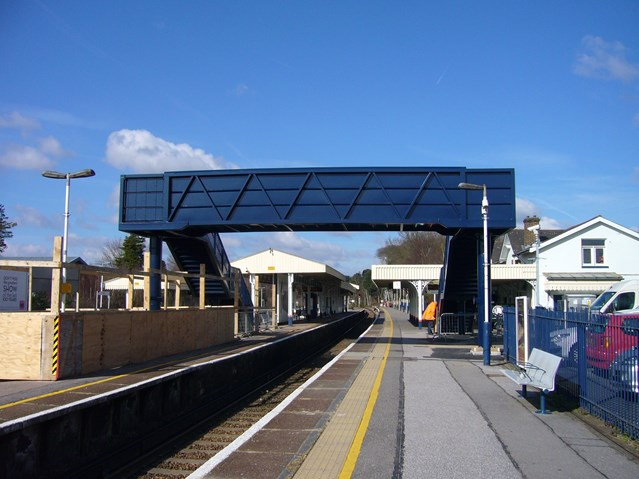 ASCOT FOOTBRIDGE REACHES FINAL FURLONG: Ascot Station Footbridge