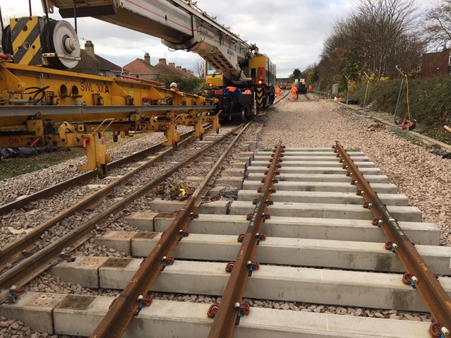 Rhyl track works completed as £50m north Wales railway upgrade project continues: Rhyl Track Work Autumn 2017
