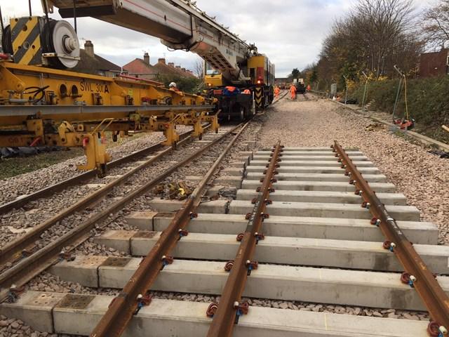 Rhyl Track Work Autumn 2017