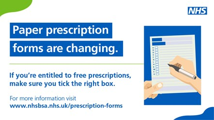 Social media image: Paper prescription forms are changing