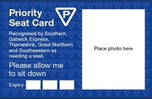Priority Seating Card example
