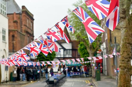 Street party stock image 1