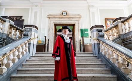 Islington's new mayor, Cllr Janet Burgess, inside the Town Hall