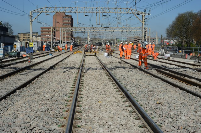 Check before you travel this Easter as railway upgrade continues: Previous upgrade work on the West Coast main line