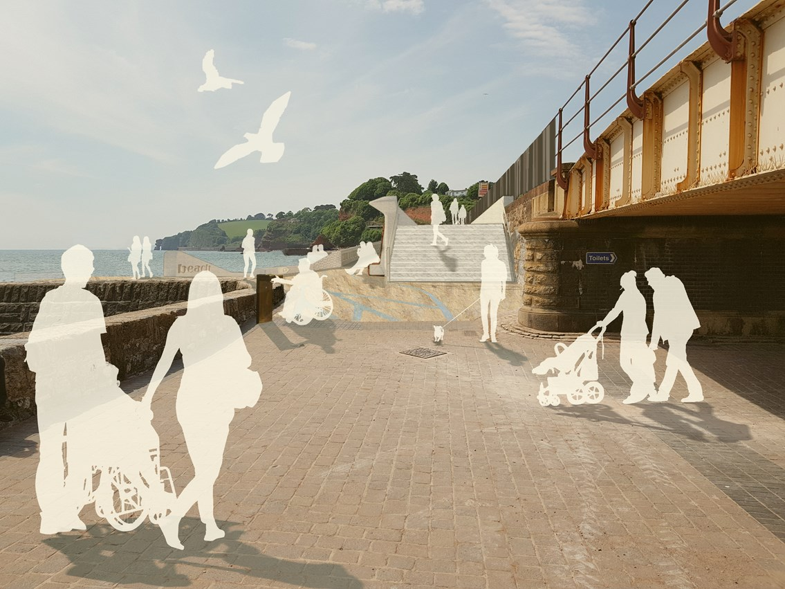 Dawlish sea wall render image 1