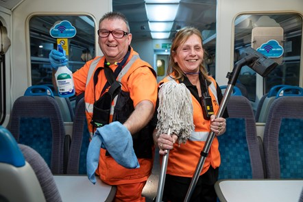Meet the grime fighting duo working through the night to get our trains ready for rush hour: Andrew and Lynn (2)