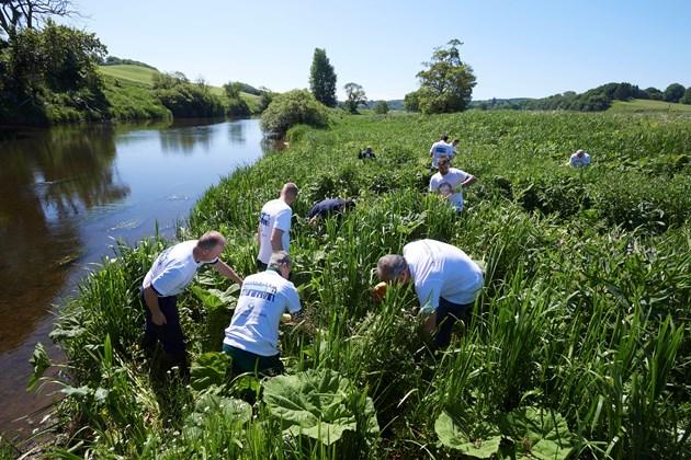 Gaelic welcome to Volunteers: SISI project - volunteers from Chivas Brothers - June 2018 - credit Ewen Weatherspoon