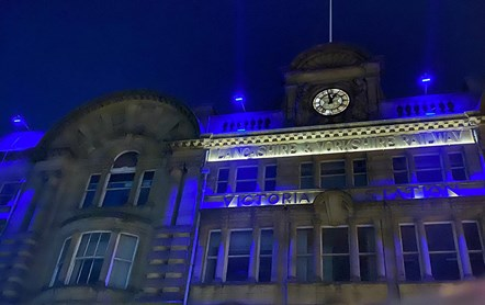 Victoria embraces colour change in support of NHS: Victoria in blue