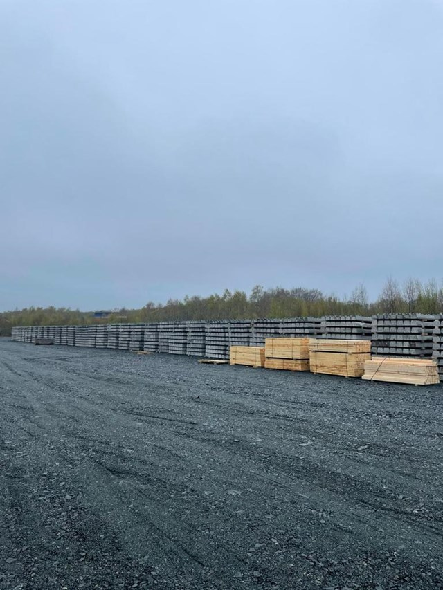 Sleepers at Thornton Yard, Fife: Sleepers at Thornton Yard will be used for new Leven rail link