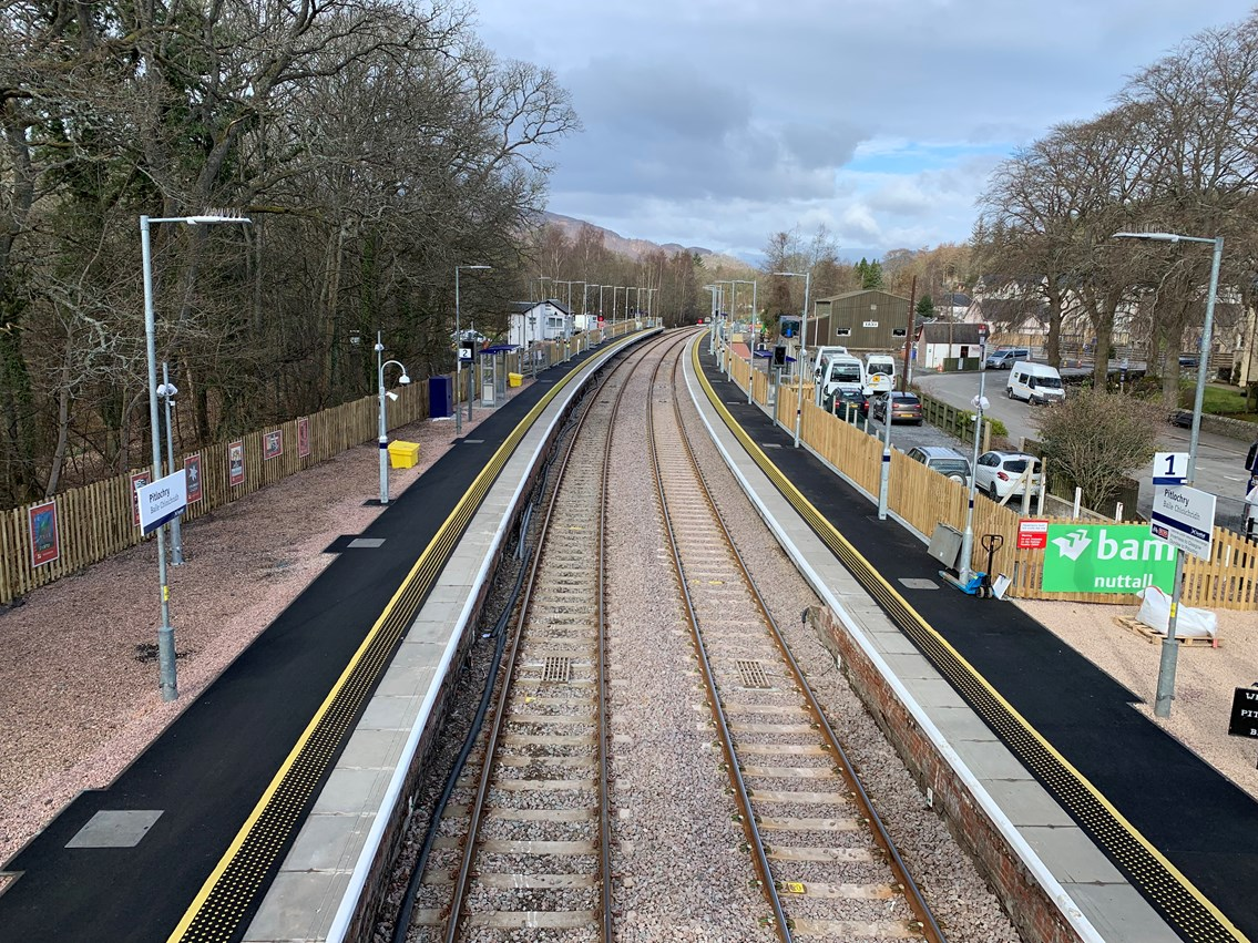 Highland main line upgrade work complete: Pitlochry platform extensions