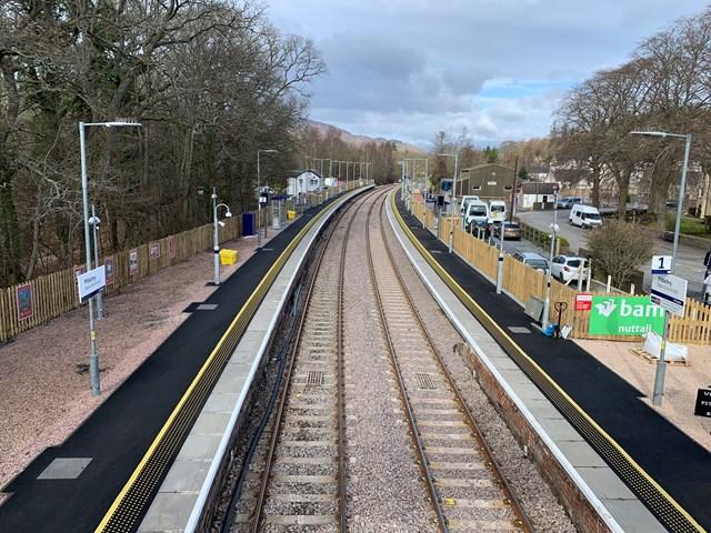 Highland main line upgrade work complete: Pitlochry platform extensions