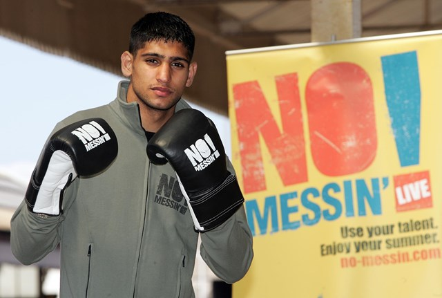NO MESSIN' LIVE! ENFIELD EVENT SET TO GET KIDS ON THE RIGHT TRACKS: Amir Khan joins No Messin'! Campaign