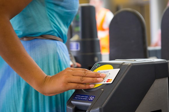 TfL Press Release - Half of all Tube and rail pay as you go journeys across London now made using contactless payments: TfL Image - Contactless payment copyright Transport for London